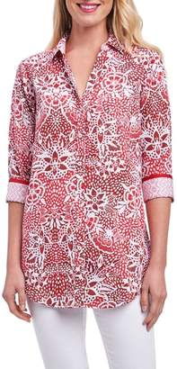 Foxcroft Faith Batik Floral Shirt
