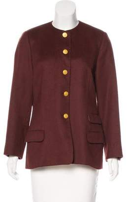Salvatore Ferragamo Long Sleeve Alpaca Jacket