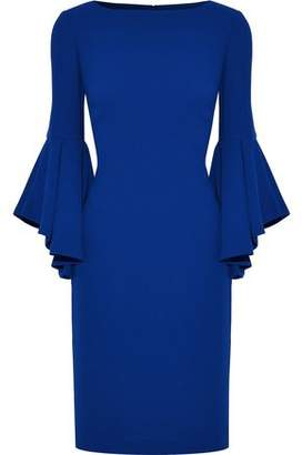 Badgley Mischka Fluted Crepe Dress