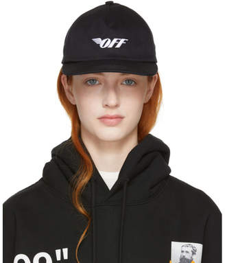Off-White Black Wing Off Baseball Cap