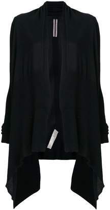 Rick Owens open front waterfall cardigan