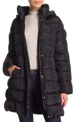 Via Spiga Quilted Packable Hood Coat