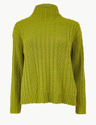Marks and Spencer Cotton Rich Cable Jumper