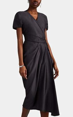 Rick Owens Women's Limo Draped Silk Crepe Short Dress - Navy