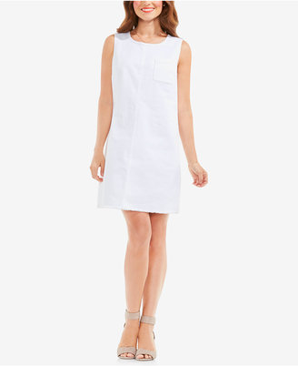 Two by Vince Camuto Frayed Denim A-Line Dress $119 thestylecure.com