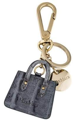 Max Mara Leather Handbag Keychain