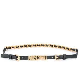 Moschino logo chain belt