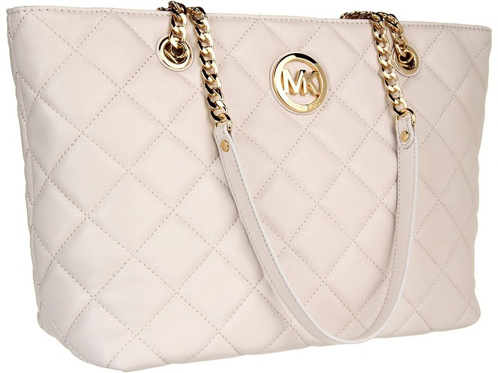MICHAEL Michael Kors Fulton Quilt Large EW Tote (Vanilla) - Bags and Luggage