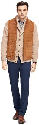 Brooks Brothers Quilted Suede Vest