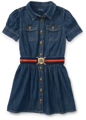 Ralph Lauren Kids Belted Denim Shirtdress