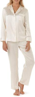The White Company Stripe Piped Silk Pajamas