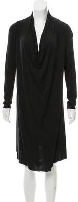 AllSaints Cowl-Neck Long Sleeve Dress