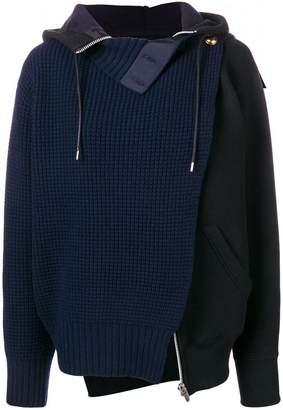 Sacai layered cardigan
