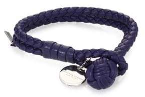 Bottega Veneta Bottega Veneta Intrecciato Leather Double-Row Wrap Bracelet