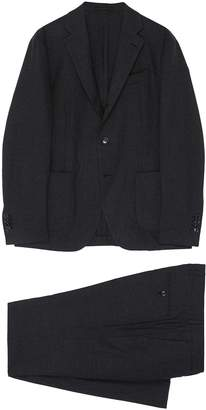 Brushed wool blend twill suit