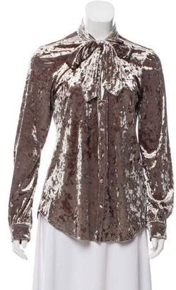 L'Agence Velvet Button-Up Top w/ Tags