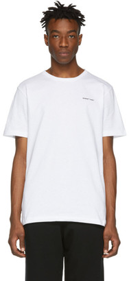 Off-White Off White White Slim Logo T-Shirt