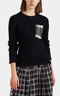 LE KILT Women's Cashmere Crewneck Sweater - Black