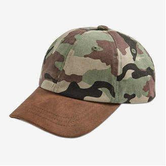 Joe Fresh Kid Boys' Camo Baseball Cap, Army Green (Size S/M)