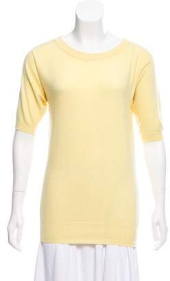 Chanel Cashmere Short Sleeve Sweater