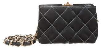 Chanel Quilted Satin Mini Crossbody Bag