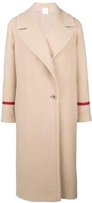Agnona contrasting strap single breasted coat