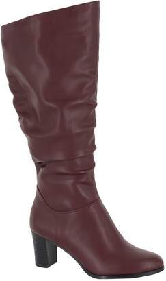 80a90a3596 Easy Street Shoes Ruching Detail Tall Boots - Tessla