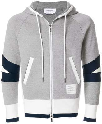 Thom Browne Articulated Zip-Up Jersey Hoodie