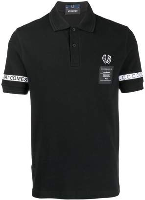 Fred Perry X Art Comes First tape polo shirt