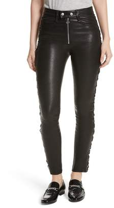 Rag & Bone Kiku Leather High Waist Ankle Skinny Pants