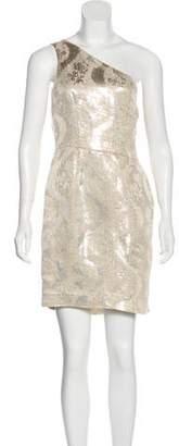 Tory Burch One-Shoulder A-Line Mini Dress