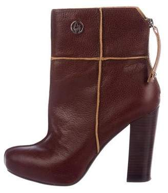Armani Jeans Leather Ankle Boots