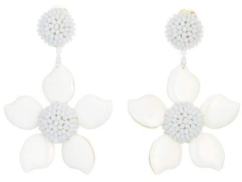Oscar de la Renta Bold Resin Flower Earrings