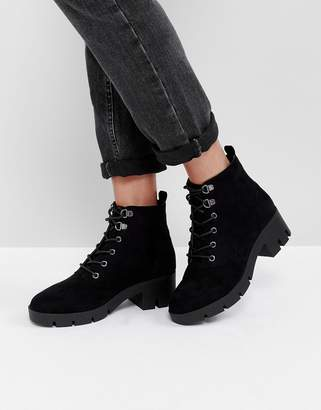 Asos Design REACTION Hiker Ankle Boots