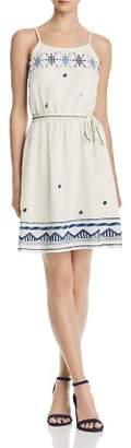 Aqua Embroidered Tie-Waist Dress - 100% Exclusive