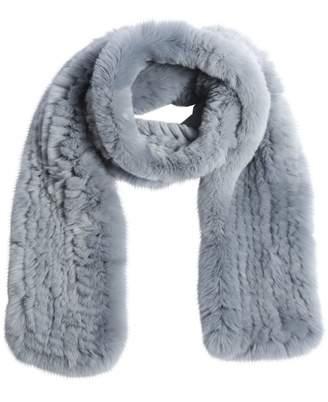 Rabbit Fur Knit Scarf