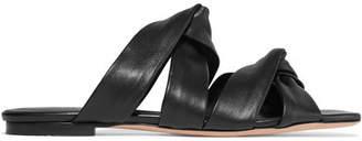 Rosetta Getty Leather Slides - Black