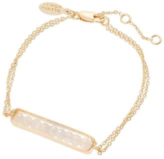 Oliver Bonas Marcelline Encased Moonstone Gold Plated Bracelet