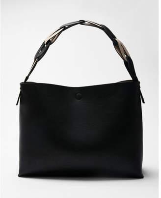 Express braided handle hobo bag