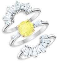Swarovski Sunshine Crystal 3-Piece Ring Set