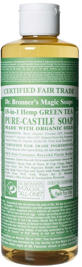 DR BRONNER Dr. Bronner Organic Green Tea Castile Liquid Soap 473ml