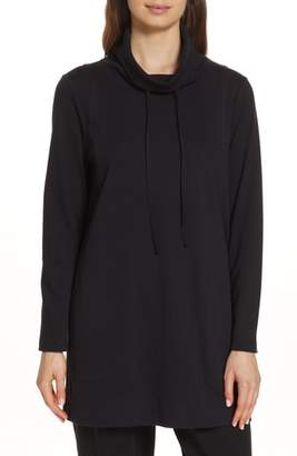 Eileen Fisher Funnel Neck Tunic Top
