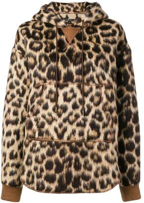R 13 leopard print pullover