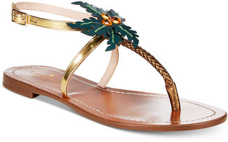 kate spade new york Solana Palm Tree Sandals $198 thestylecure.com