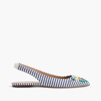 Embroidered slingback flats $298 thestylecure.com