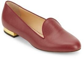 Charlotte Olympia ABC Leather Loafers