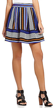 Takara Multi-Stripe Skater Skirt