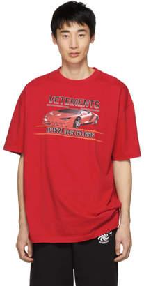 Vetements Red Car Hotline Shirt