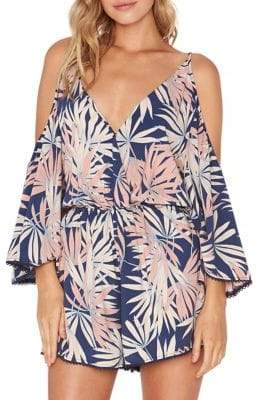 L-Space LSpace Polynesian Palm Soho Romper