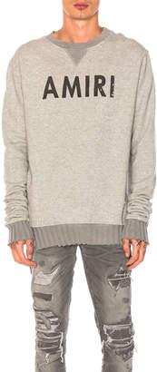 Amiri Crewneck Sweatshirt in Grey   FWRD